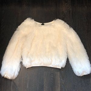 art class Shirts & Tops - Girls White furry sweater